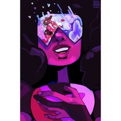 Daily Doodles ❤ liked on Polyvore featuring crystal gem and steven universe