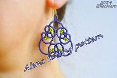 PDF shuttle tatting pattern ITALIANO | Alena tatting pattern for earrings or pendant - ITALIANO - instant download on Etsy, $4.15 AUD