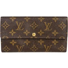 Pre-owned Louis Vuitton Wallet ($296) ❤ liked on Polyvore featuring bags, wallets, accessories, clutches, handbags, purses, apparel & accessories, wallets & cases, wallets & money clips and pocket wallet