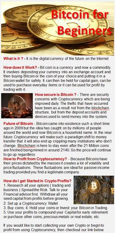 Bitcoin for Beginners What it is, How it Works and How you can Profit  http://onlinebusinessinfo.com.au/bcn5