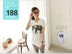 CliPick 的STAR-Q 的0516/造型大象印圖棉T*特價 大象:http://www.clipick.com/item?sid=119324