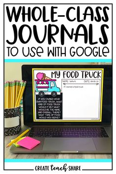 Digital Whole Class Journals Digital Whole Class Journals,Create.Share Teacher Shop Digital Whole-Class Writing Journals are the perfect way for students to share their writing with their classmates. The are great for writing centers, morning. Class Journals, Writing Journals, Google Classroom, 4th Grade Writing, Teaching Second Grade, Third Grade, Teaching Technology, Technology Integration, Educational Technology