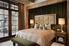 Luxury Elegant Bedroom Design Ideas With Cozy Tone For Contemporary Concept For Creative Bedroom Luxury Interior Design Idea Chalets Country Master Bedroom, Master Bedroom Design, Master Bedrooms, Bedroom Designs, White Bedroom, Bedroom Ideas, Living Room Small, Chalet Design, Luxury Interior Design