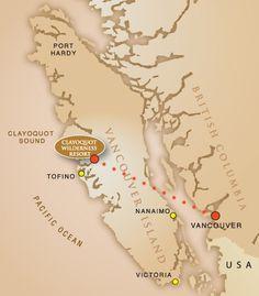Clayoquot Wilderness Resort map
