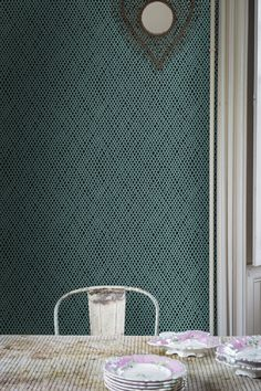 (behind the bed?)Amime BP 4404 | Wallpaper Patterns | Farrow & Ball