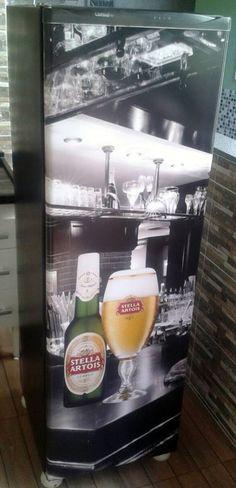 Adesivos para Geladeiras - Cerveja Stella Artois - Tá cansado de ver aquela geladeira desbotada e suja? Que tal renovarmos de maneira rápida, sem stress, limpa e barata? Olhem nossos adesivos, pura realidade e em Full HD. 27 99616-7554 / digitalcopysolucoes@gmail.com