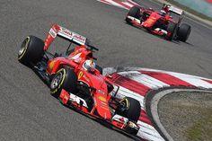 Sebastian Vettel, Kimi Raikkonen - Ferrari SF15T 2015