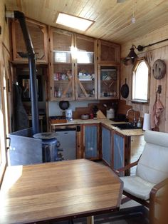 A One Of A Kind Tiny House Packed With Rustic Chic Design Finishes - kitchen / dining - photos :  tinyhousefor us  #1