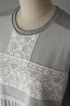 M71410 クルーニーレース付カットソー  #miyaco #lace #fashion #カットソー