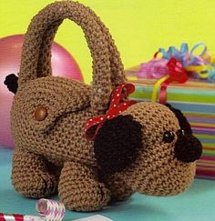 Bet my niece would love one of these! ~ Cute Critter Purses To Crochet