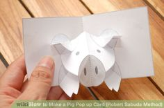 Image titled Make a Pig Pop up Card (Robert Sabuda Method) Step 32
