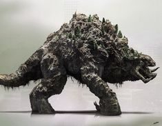 Titanus Methuselah, one of the new Titans from Godzilla: King of the Monsters. Creature Concept Art, Creature Design, Fantasy Creatures, Mythical Creatures, Godzilla Suit, Demogorgon Stranger Things, All Godzilla Monsters, Godzilla Wallpaper, Alien Character