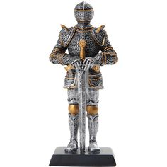 Standing Medieval Knight Statue - CC10241 by Medieval Collectibles