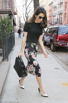 Stunner: Amal Clooney, wife of actor George, has become famous in her own right as a barri...
