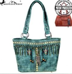 Turquoise Montana West Native American Tribal Concealed Handbag Tote Purse