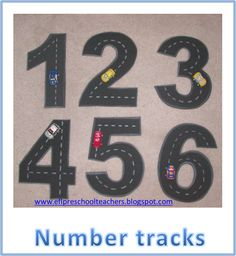 ESL Transportation Theme, number tracks madeout of fun foam. Toddler Learning Activities, Educational Activities, Math Activities, Preschool Classroom, In Kindergarten, Preschool Crafts, Cars Preschool, Transportation Theme Preschool, Early Years Maths