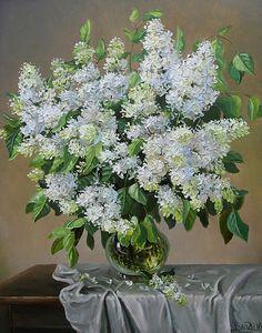 White lilac   canvas, oil, 50x40 cm, 2010