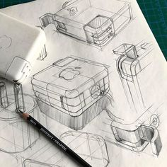 Charged up. Love this! #Repost @yildirim.nur ・・・ Back to pencil and white paper. Sometimes I really don't know what to sketch. So here's what I found on my desk. #sketch #sketching #idsketching #design #sketchbook #designsketching #industrialdesign #productdesign #idsketch #drawing #illustration #metu #entas #viscom #designsketch #draw #drawing #apple #doodle #freehand #pencildrawing
