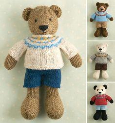 Ravelry: Boy bear pattern by Julie Williams. Just wonderful!! £4