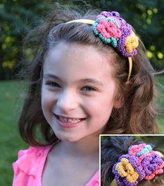 Crochet Pearl Headband