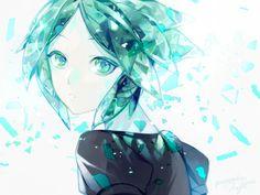 Houseki no Kuni \\ 宝石の国 \\ Land of the Lustrous \\ Country of Jewels { Pixiv Matsunaka Hiro } Character Concept, Character Design, Anime Blue Hair, Manga Anime, Anime Art, Animes To Watch, Me Me Me Anime, Cute Drawings, Anime Characters
