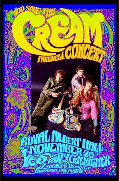 Cream Farewell Concert poster by Bob Masse. 1968