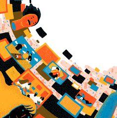 Yukai Du // Editorial Illustrations on Behance Illustration Vector, Business Illustration, Children's Book Illustration, Graphic Design Illustration, Pose, Silk Screen Printing, Science Art, Comic Books Art, Concept Art