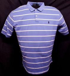 Polo Ralph Lauren Blue Shirt Men's Size XL Short Sleeve 100% Pima Cotton Casual #RalphLauren #PoloRugby