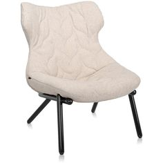 Kartell Foliage Black Legs Armchair - Beige Trevira (1,975 CAD) ❤ liked on Polyvore featuring home, furniture, chairs, accent chairs, neutral, beige arm chair, cream chair, off white furniture, kartell and off white accent chair