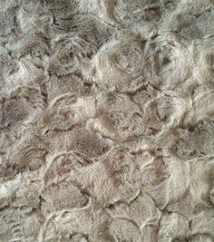 "Faux Fur Fabric 57""-Large Paloma Swirl"