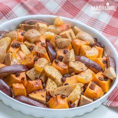 Dovleac la cuptor cu mere si gutui / Roasted pumpkin, apple and quince Sweet Potato, Biscuits, Vegetarian Recipes, Roast, Clean Eating, Potatoes, Pumpkin, Sweets, Apple
