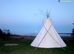 Tipis in Manitoulin Island   Ontario