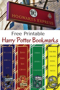 Are you a Harry Potter Fan? Then you'll love these Free Harry Potter Printable… Are you a Harry Potter Fan? Then you'll love these Free Harry Potter Printable Bookmarks! There's one for every of the four Hogwarts Homes! Have fun