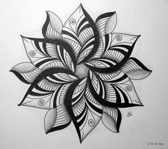 Lotus flower tattoo idea!! Bet it would look good in color...