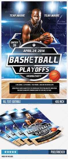 Basketball Tournament Flyer  Flyer Template Template And Event