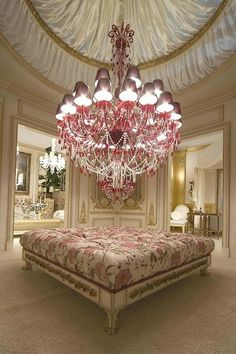 French Shabby Chic Style: Part 3 - Lighting including Palais Garnier, Rachel Ashwell chandeliers & other shabby chic lighting ideas for your wedding & home Room, Interior, Beautiful Chandelier, Luxury Closet, Awesome Bedrooms, Bedroom Design, Home Decor, Pink Chandelier, Chandelier