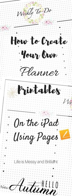 to Create Planner Printables on the iPad Using Pages free bullet journal printable, digital bullet journal, iPad bullet journal free bullet journal printable, digital bullet journal, iPad bullet journal Making A Bullet Journal, How To Bullet Journal, Bullet Journal Junkies, Bullet Journal Layout, Journal Fonts, Free Bullet Journal Printables, Journal Template, Planner Template, Journal Pages Printable