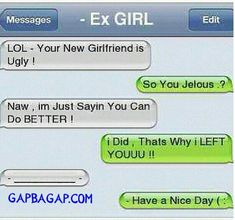 Top 8 #FunnyTexts Collection About Exes