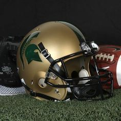 Schutt Michigan State Spartans Full Size Replica Football Helmet - Gold