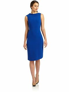 Rachel Roy - Draped Fold-Over Neck Dress - Saks.com139.00  back is really pretty