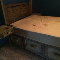 Farmhouse bed with storage