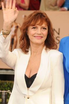 22nd Annual Screen Actors Guild Awards at The Shrine Expo Hall - Arrivals                                     Susan Sarandon is upset people are more aware of the cleavage-baring outfit she wore to the Screen Actors Guild Awards than her Nobel Peace Prize nomination.  Credit: FayesVision/WENN.com