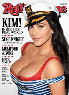 Ahoy there: Kim's July 16 issue Rolling Stone cover was revealed on Wednesday showing the brunette beauty in a nautical themed outfit