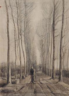 Avenue of Poplars, 1884, Vincent van Gogh, Van Gogh Museum, Amsterdam (Vincent van Gogh Foundation)