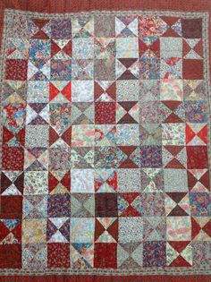 Liberty lawn quilt ready for hand quilting