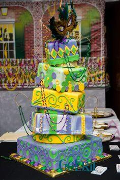 Awesome Mardi Gras cake
