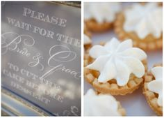 Flour & Flower Designs; Sign and tarts