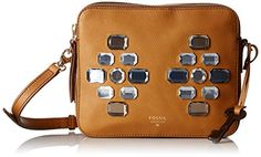 Fossil Sydney Double Zip Crossbody, Brown Sugar - http://todays-shopping.xyz/2016/07/12/fossil-sydney-double-zip-crossbody-brown-sugar/
