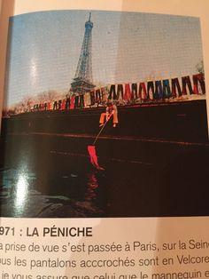 1971 : Exposition de pantalons Velcorex le long de la Seine