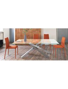 Tavolo da pranzo allungabile o fisso con struttura in acciaio o ...